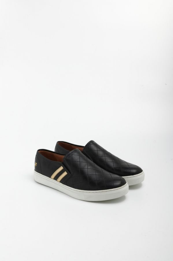 Diamond Quilted Leather Slip-on